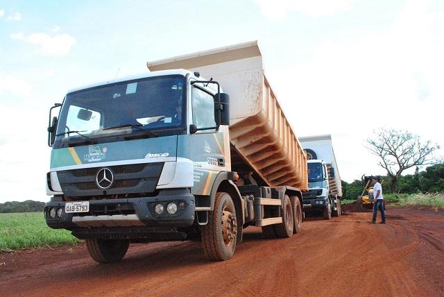 Maracaju: Mais um trecho de estrada vicinal foi concluído esta semana