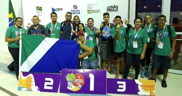 Paralimpíadas Escolares: MS leva 35 medalhas no primeiro dia da 13ª edição das