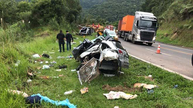 Pai e filha de Dourados morrem em grave acidente no Paraná