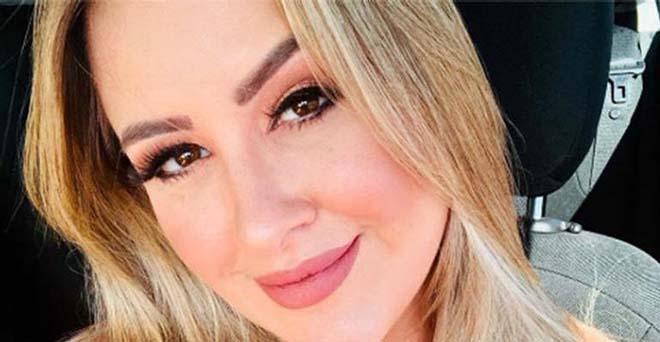 Ex-BBB Patrícia Leitte exibe corpão de biquíni branco de fita: ''Amo minha marquinha''