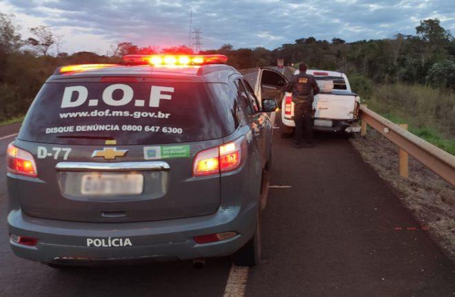 Camionete furtada no Paraná foi recuperada pelo DOF com mais de 1.700 quilos de maconha durante a Operação Hórus