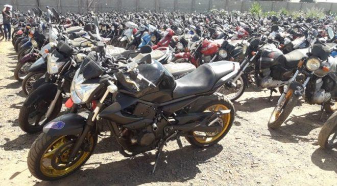 Operação Pátio Zero: mais de 800 motocicletas estão disponíveis no leilão de sucata