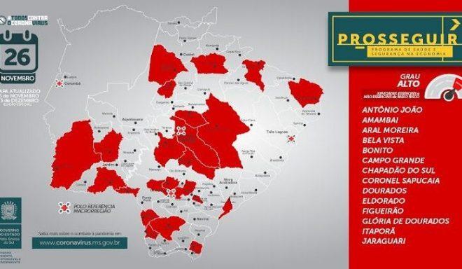 Covid-19: aumento no número de casos coloca 31 municípios em grau de risco no Prosseguir