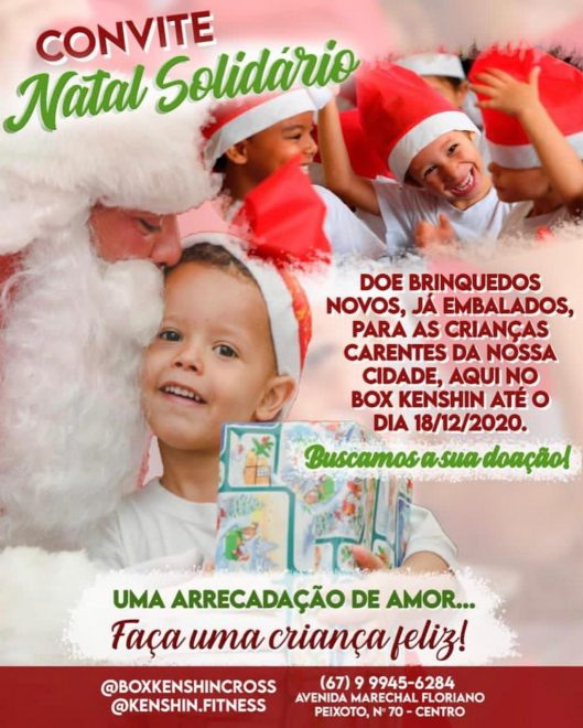 Academia Box Kenshin Cross realiza Natal Solidário em Maracaju