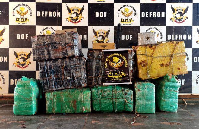 Mais de 350 quilos de drogas abandonados foram apreendidos pelo DOF durante a Operação Hórus