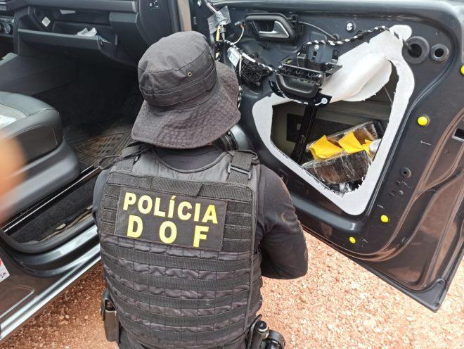 Em Maracaju homem que seguia com maconha para Cuiabá foi preso pelo DOF durante a Operação Hórus