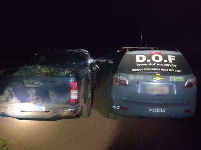 Camionete furtada é recuperada pelo DOF durante a Operação Hórus