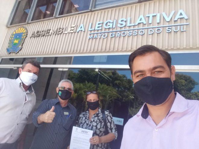 Vereadores de Juti em busca de recursos para a saúde cumprem agenda na Assembléia Legislativa de Mato Grosso do Sul.