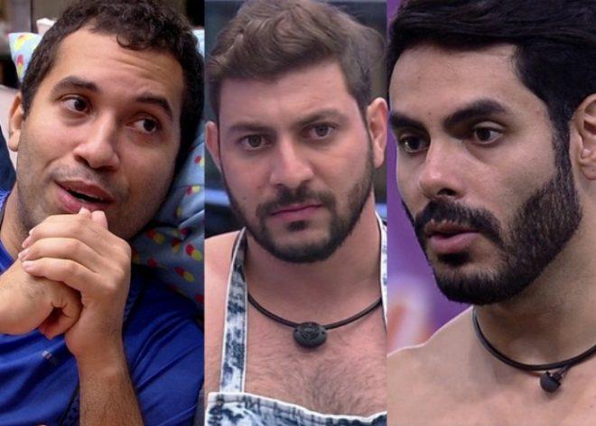 BBB: Caio, Gilberto e Rodolffo estão no paredão. Quem sai?