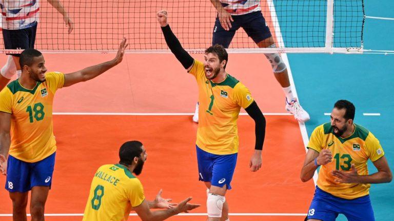 Olimpíadas: Brasil vence Estados Unidos de virada no vôlei masculino