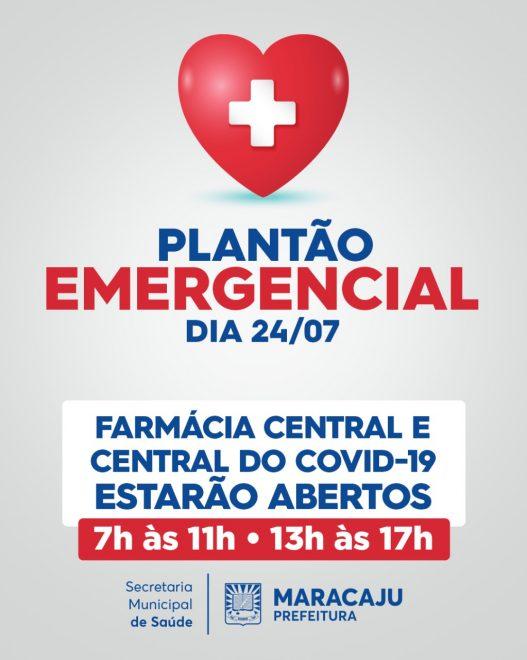 Farmácia Central e Central do Covid-19 estarão de plantão neste sábado (24).