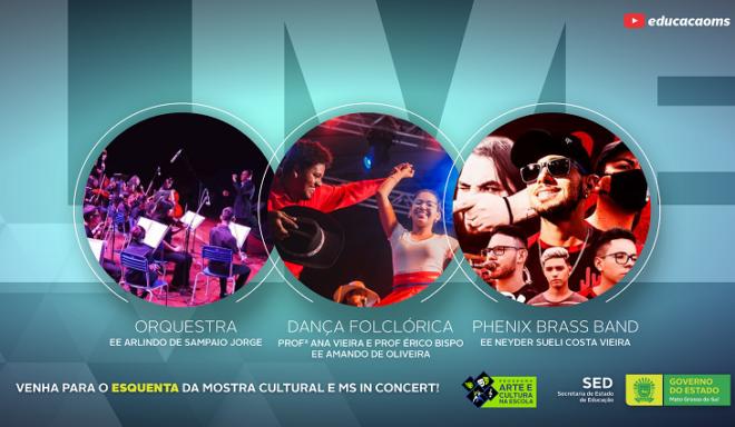 SED realiza live de aquecimento para 14ª Mostra cultural e Festival MS in Concert, nesta quinta-feira