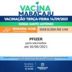 Vacinação: Saiba quais os públicos que irão se vacinar nesta terça-feira (14)