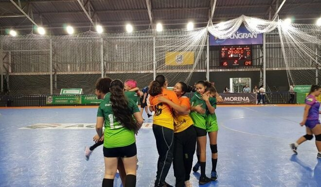 Campo Grande chega ao tricampeonato no handebol feminino dos Jogos Escolares de MS